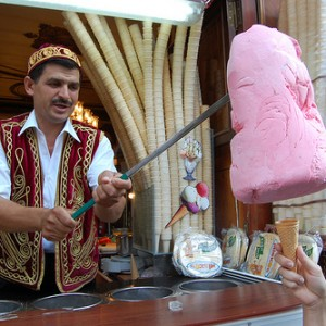 Turkish ice cream stall