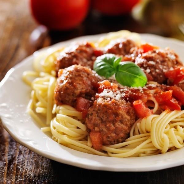 spaghetti mutton meatballs