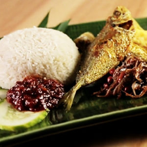 Fish nasi lemak