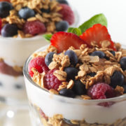 Live Cereal with Yoghurt Station
